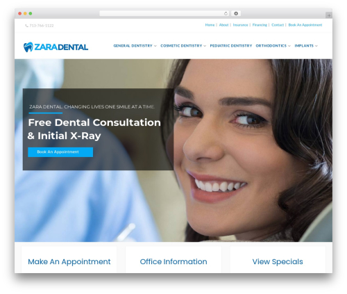 Dental Care best WordPress theme - zaradental.com