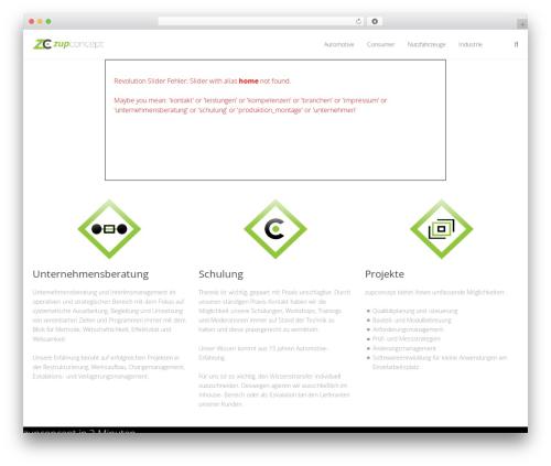 Kocka template WordPress - zupconcept.com