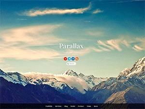 Parallax WordPress website template