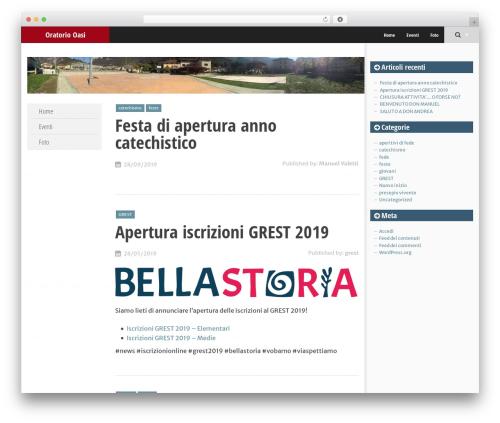 SmartAdapt WordPress website template - oratoriovobarno.it