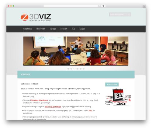 WordPress theme Twins - 3dviz.no