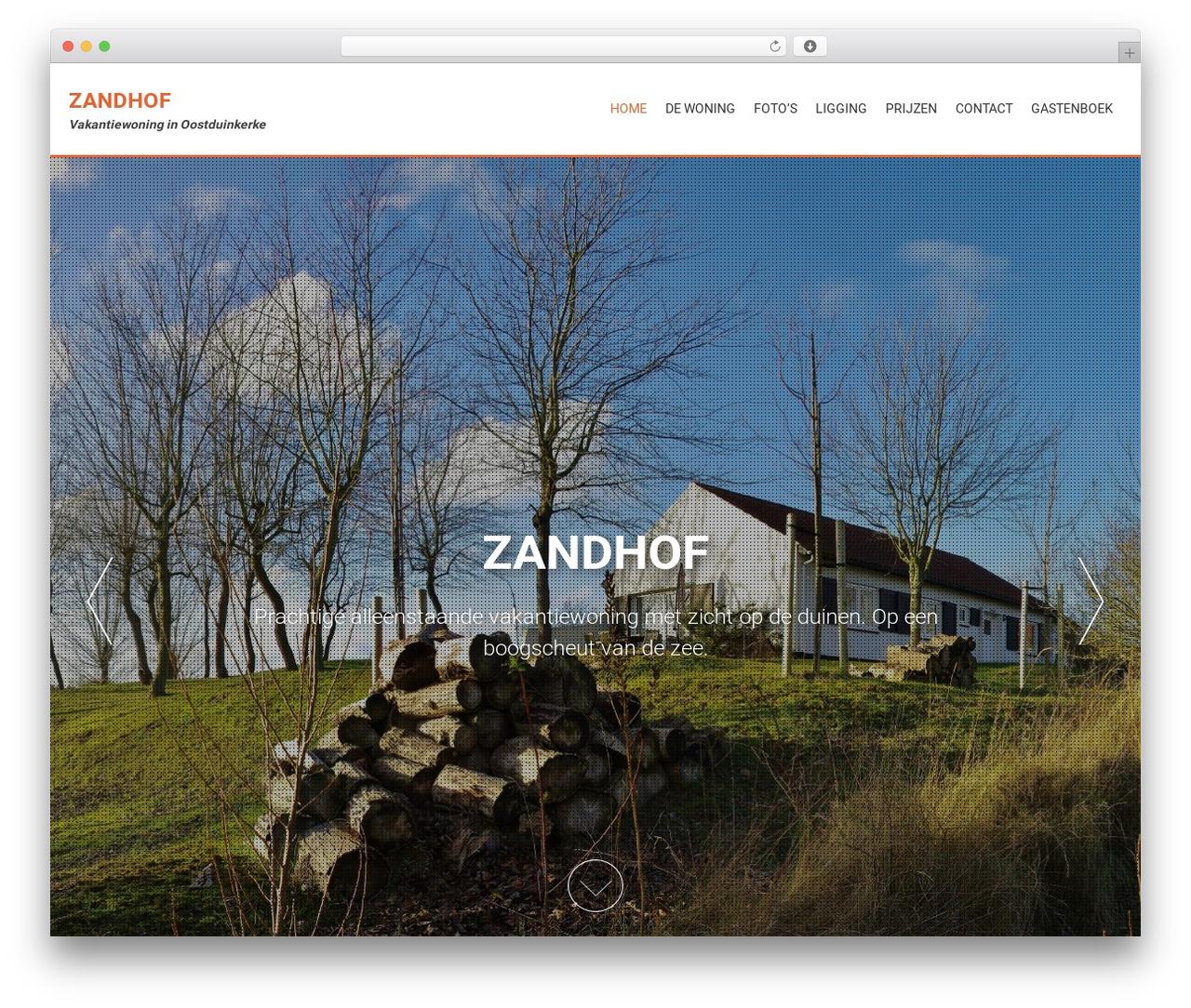 AccessPress Parallax free WP theme - zandhof.eu