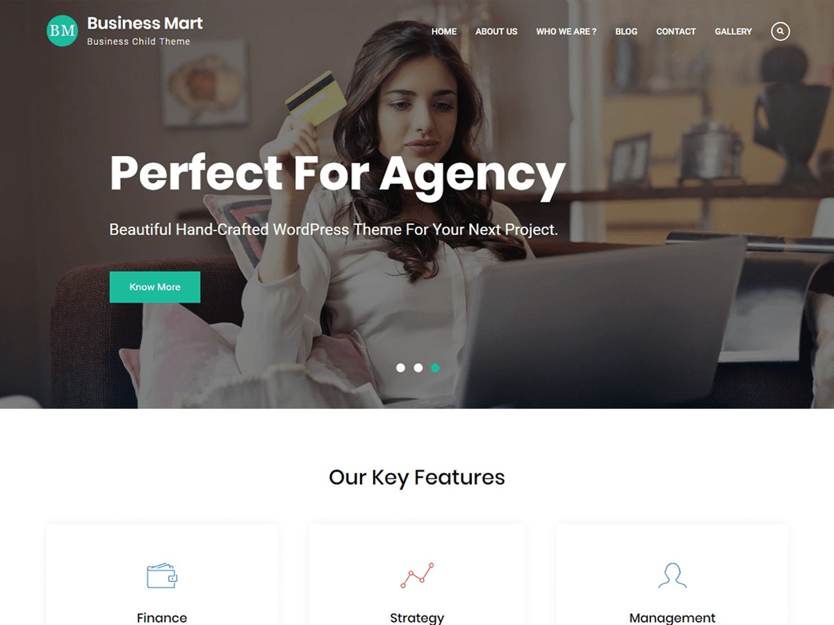 Business Mart WordPress template for business