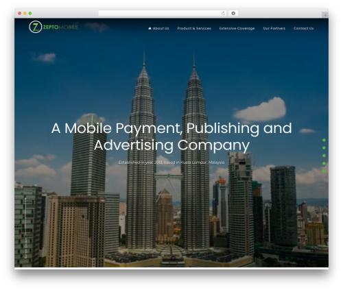 Freddo Pro business WordPress theme - zeptomobile.com