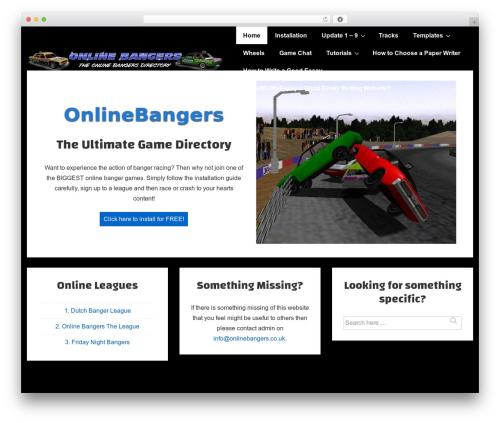 Template WordPress Responsive - onlinebangers.co.uk
