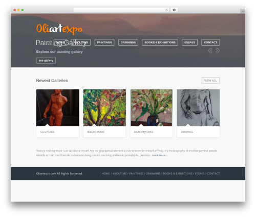 Theme WordPress Wave - oliartexpo.com