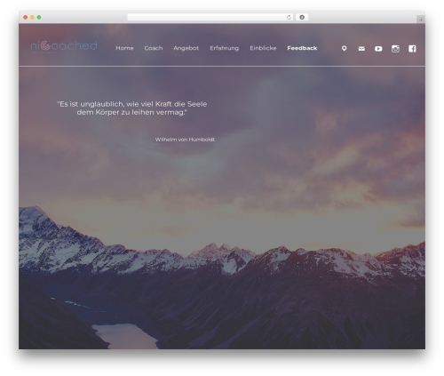 Afterlight template WordPress - nicoached.com