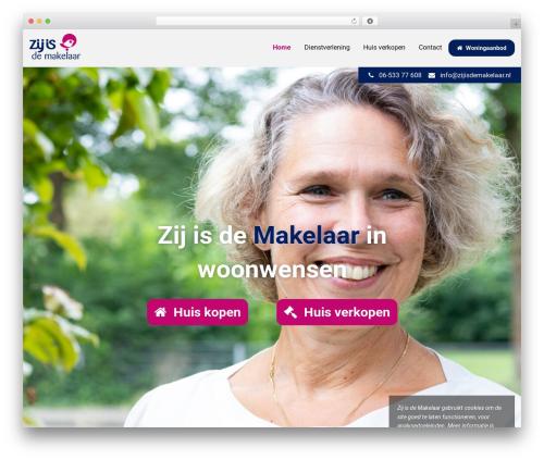 MediaSoep Recept WordPress template - zijisdemakelaar.nl