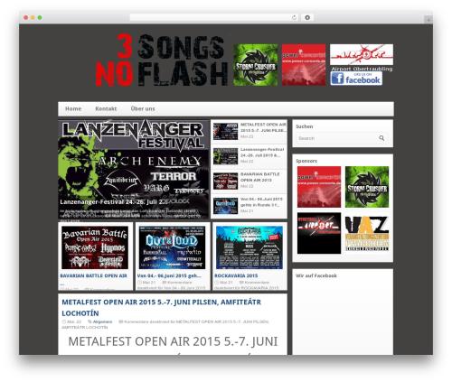silverOrchid WordPress template - 3songsnoflash.de