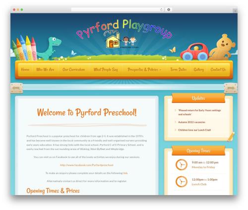 Theme WordPress Toddlers - pyrfordplaygroup.co.uk