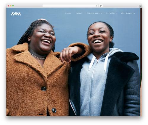 WP theme AWA - angelawoods.com