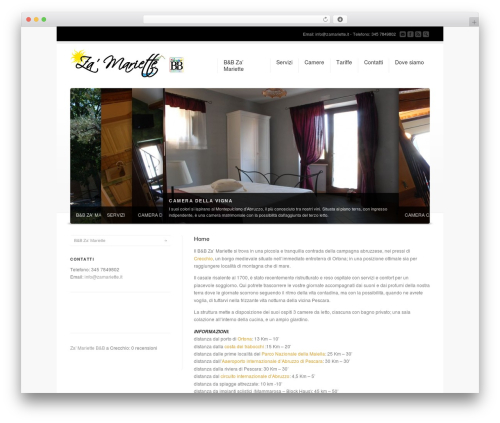 Corona WordPress template - zamariette.it
