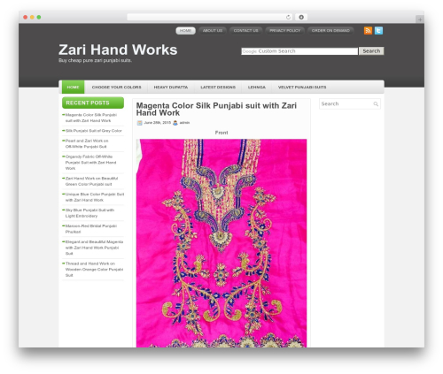 eCommerce WordPress shop theme - zarihandworks.com