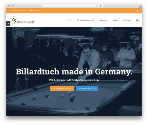 Template WordPress Avada - z9billiardcloth.com