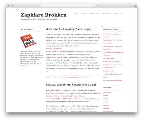 Whitespace theme WordPress - zapklarebrokken.nl