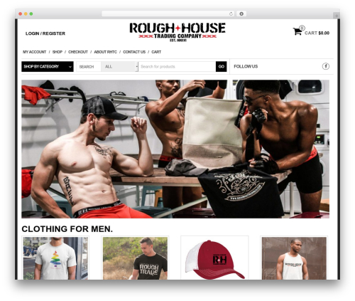 WP theme eCommerce Store - roughhousetradingco.com