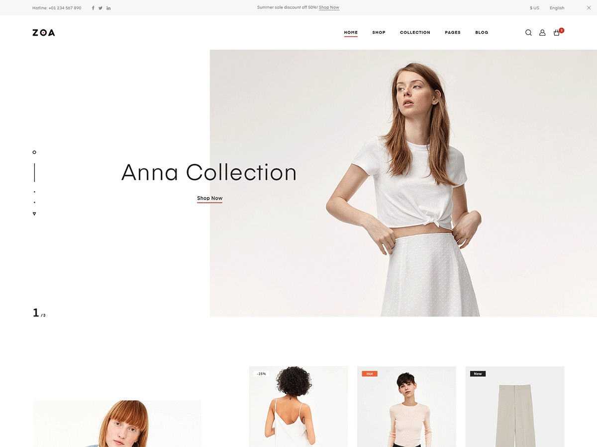 Zoa best portfolio WordPress theme