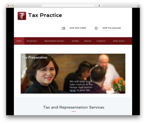Adviser WordPress theme - taxpractice.com