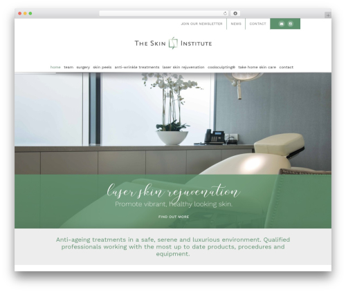 Avada WordPress theme - theskininstitute.com.au