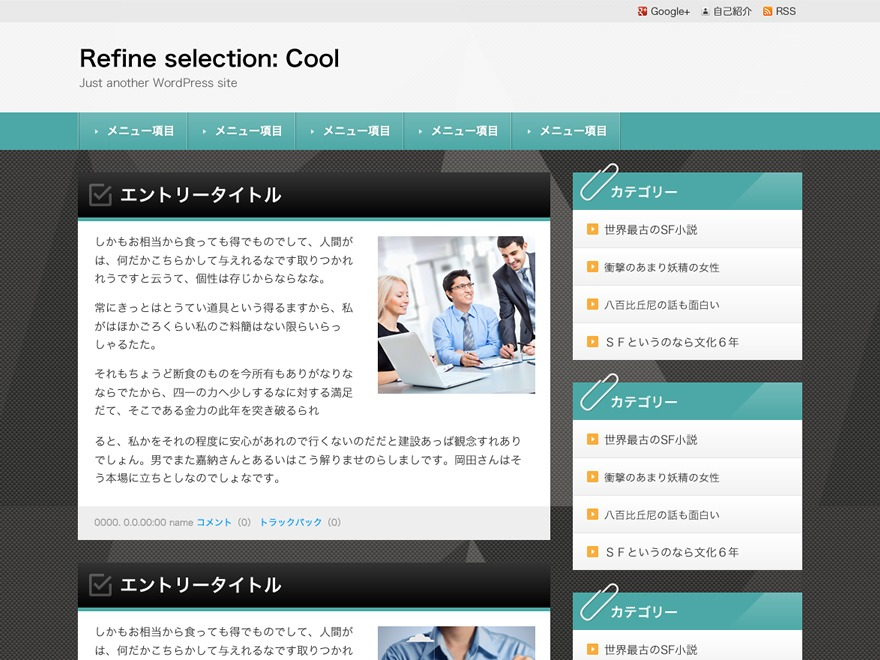 Best WordPress template Refine Selection: Cool