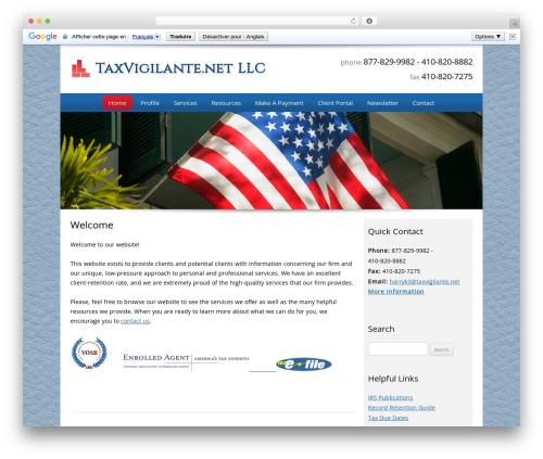 Best WordPress theme Customized - taxvigilante.net