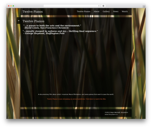 Black Label WordPress website template - twelvepianos.com