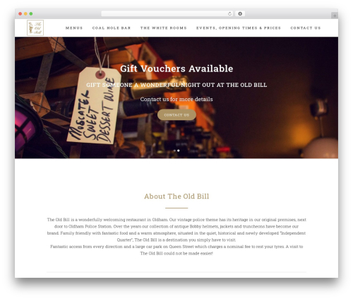 Bridge WordPress theme design - theoldbill.co.uk