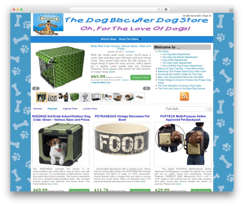 Covert Store Builder Theme WordPress shopping theme - thedogbiscuiterdogstore.com