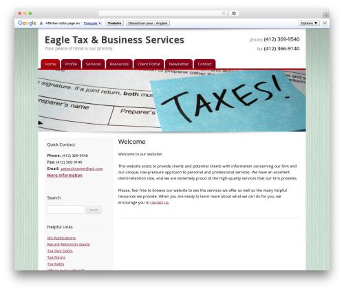 Customized WordPress theme - taxpreppgh.com