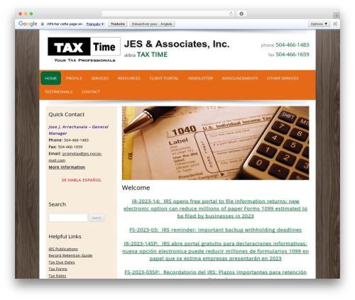 Customized WP template - taxtimeweb.com