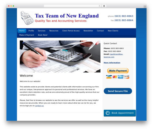 Customized WP theme - taxteamne.com