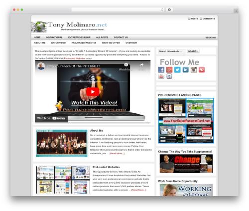 Genesis company WordPress theme - tonymolinaro.net