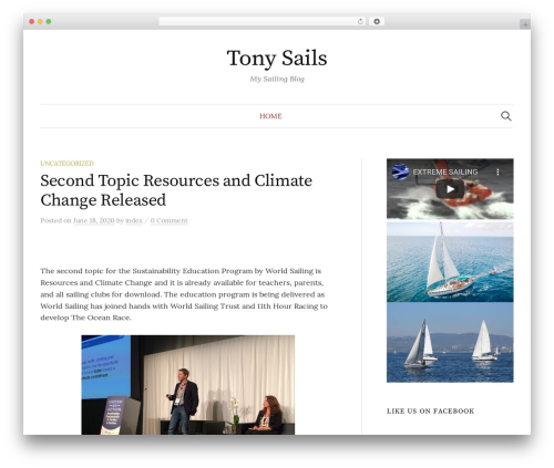 Graphy WordPress template free - tonysails.com