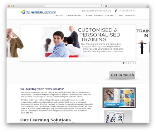 Hyperion WordPress page template - thesuccessinstitute.com.au