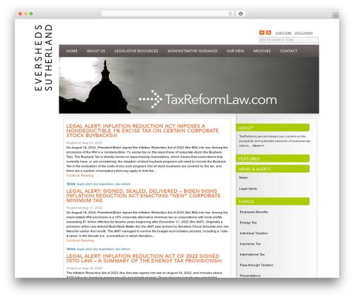 InterPhase WordPress blog template - taxreformlaw.com