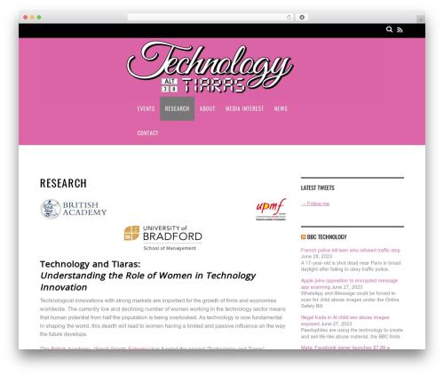 Magazine WordPress theme - technologyandtiaras.org