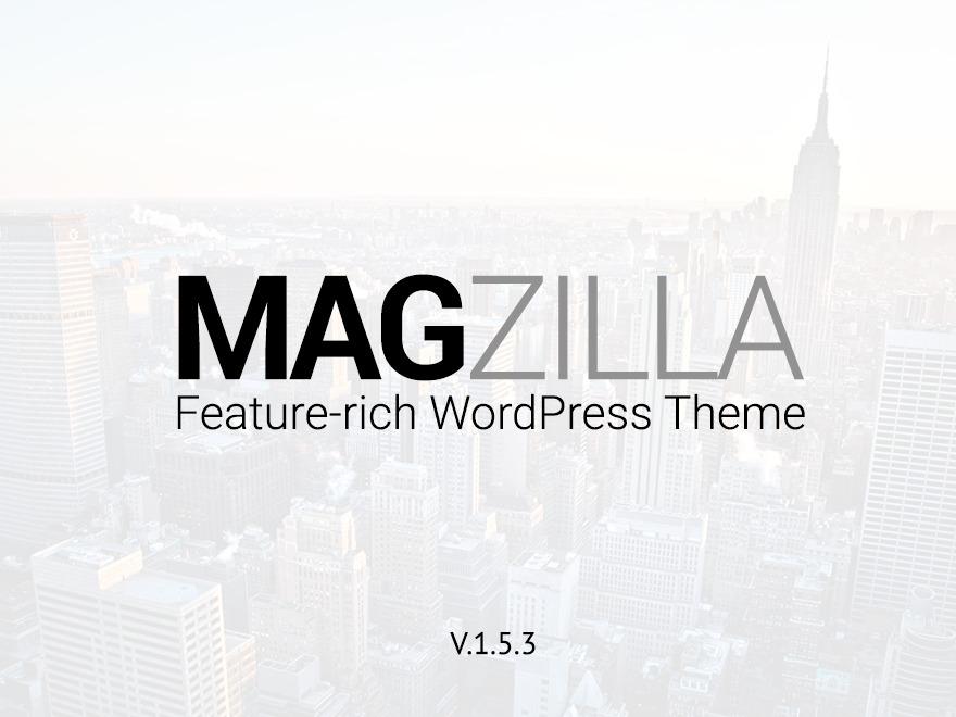 Magzilla WordPress news template