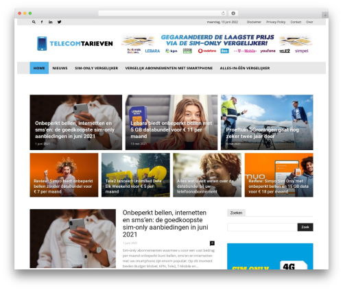 Newspaper WordPress magazine theme - telecomtarieven.nl