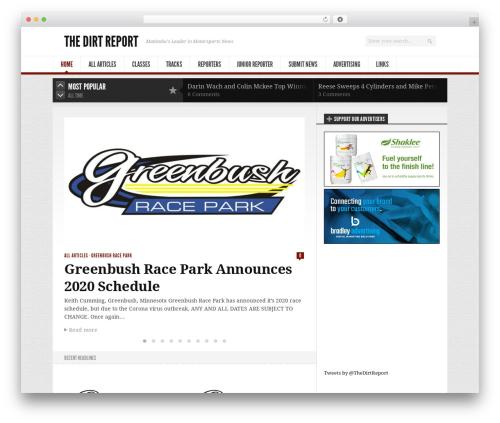 Newsroom newspaper WordPress theme - thedirtreport.com