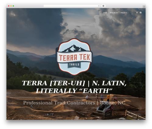 October WordPress theme - terratektrails.com