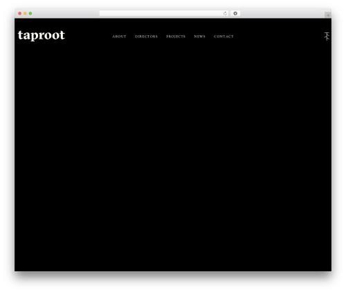 Pro company WordPress theme - taprootpictures.com