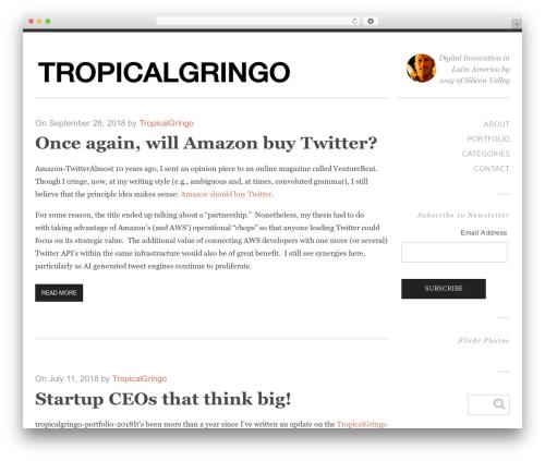 Ravage WordPress website template - tropicalgringo.com
