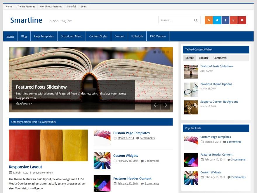 Smartline Lite Child Theme WordPress website template