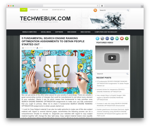 Technologic WordPress website template - techwebuk.com
