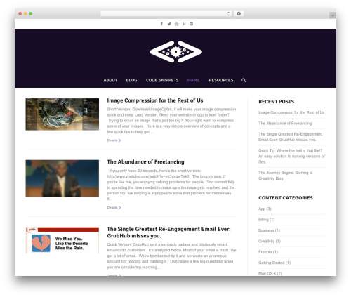 The7 WP template - thoughtsfromarobot.com