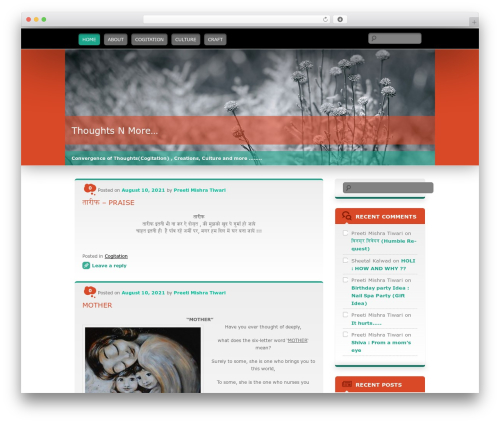 Theme WordPress Wallpapered - thoughtsnmore.com