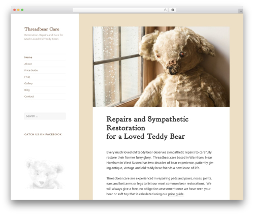 threadbear WordPress page template - threadbear.care