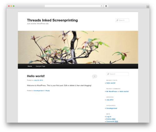 Twenty Eleven free website theme - threads-inked.com