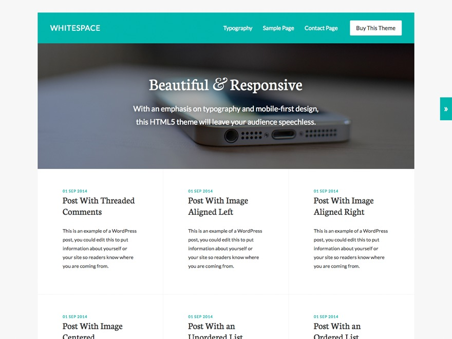 Whitespace Pro best WordPress gallery