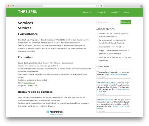 WordPress template Wimple - thpe.be